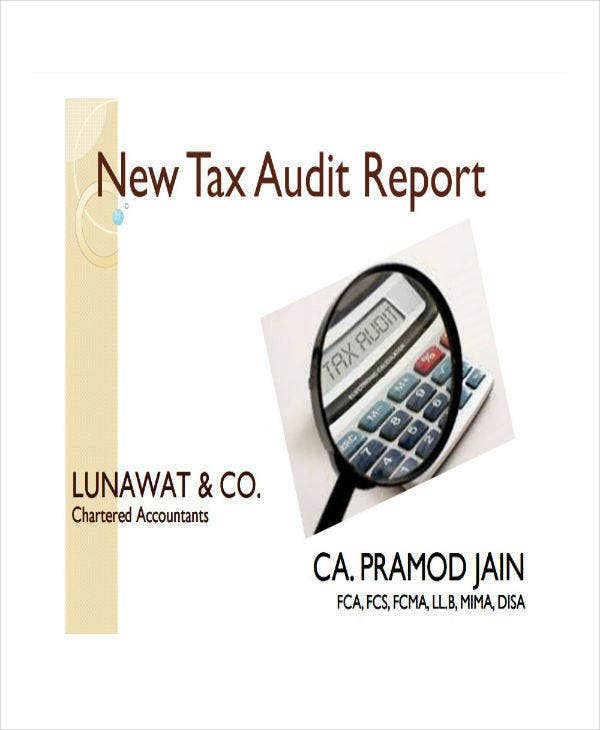 new tax audit report template