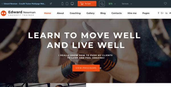 newman-personal-crossfit-trainer-website-template