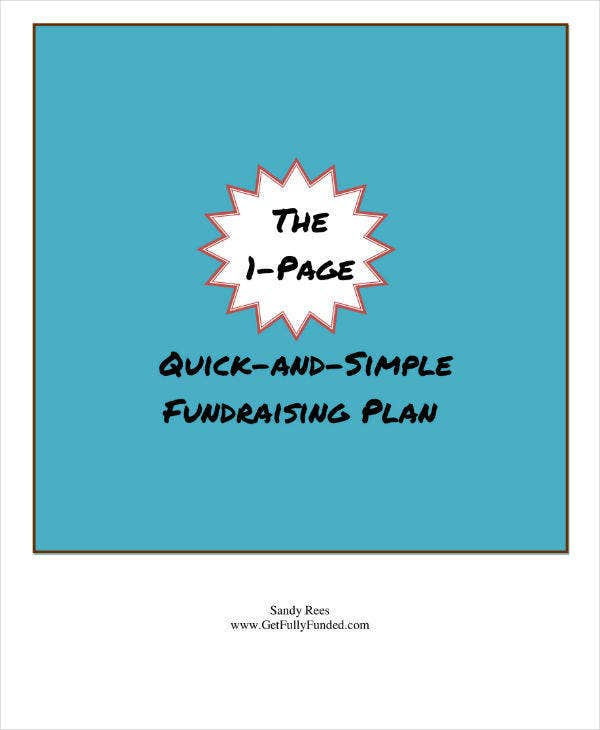 Non-Profit Fundraising Plan Sample