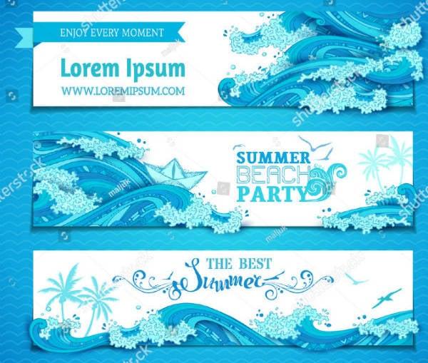 Ocean Banner Template Set