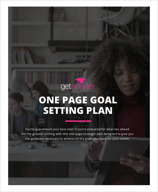 one page goal setting strategic plan