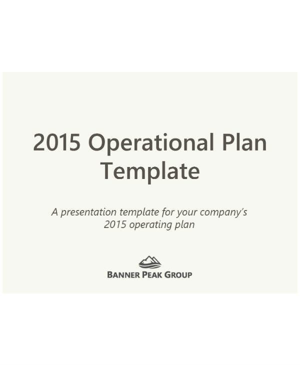 operational plan template for restaurants