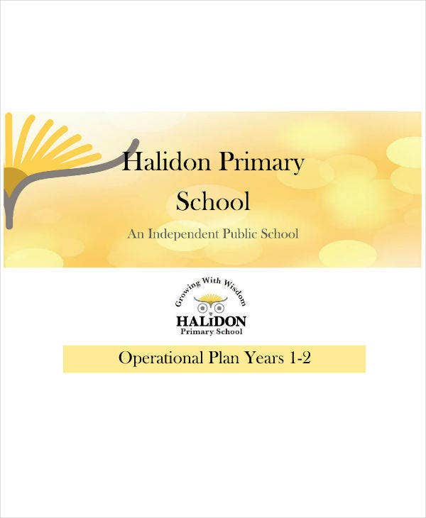 Operational Plan for Primary School Example