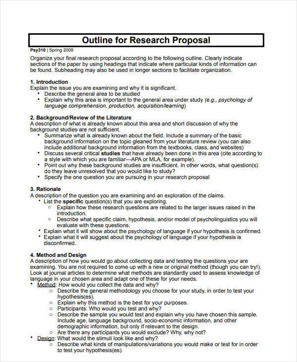 12  project proposal outline templates