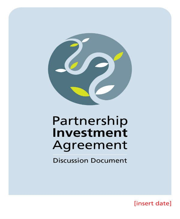 partnership investment agreement template 1