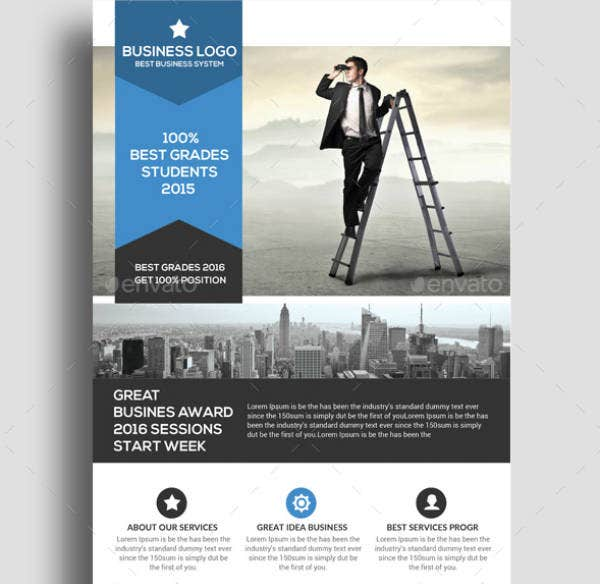 Personal Finance PSD Flyer Template