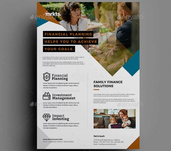 Personal Financial Planning Flyer Template