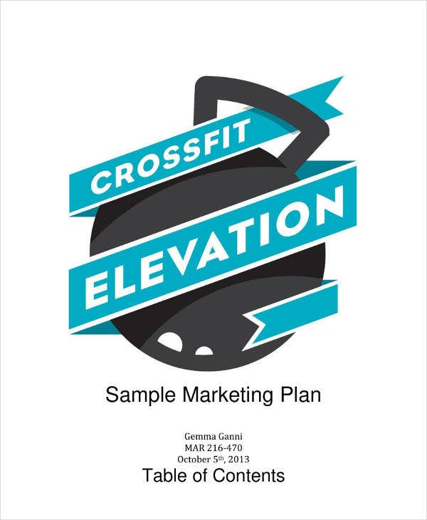 Personal Marketing Plan Sample Template