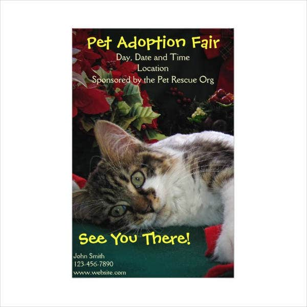 Pet Adopt Flyer Example