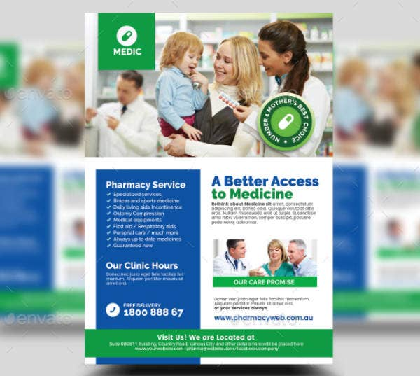 pharmacy medical clinic flyer sample
