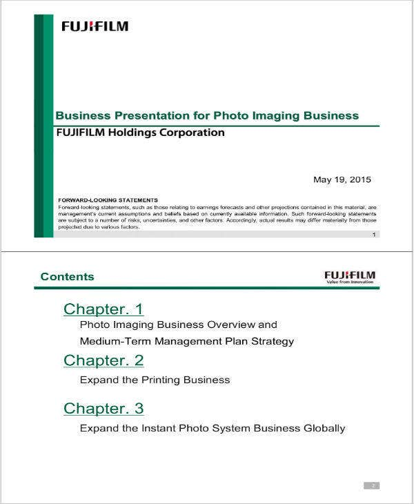 Photography Business Plan Sample