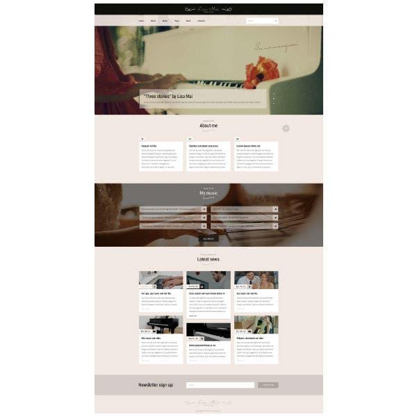 Piano Teaching Website Template