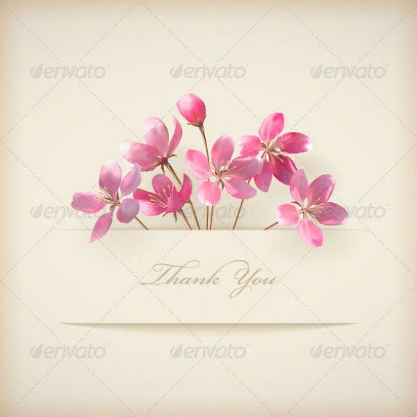 pink professional thank you card template