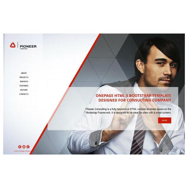 Pioneer - OnePage HTML Theme