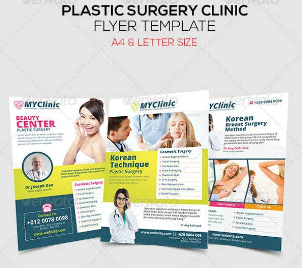 plastic surgery clinic flyer example