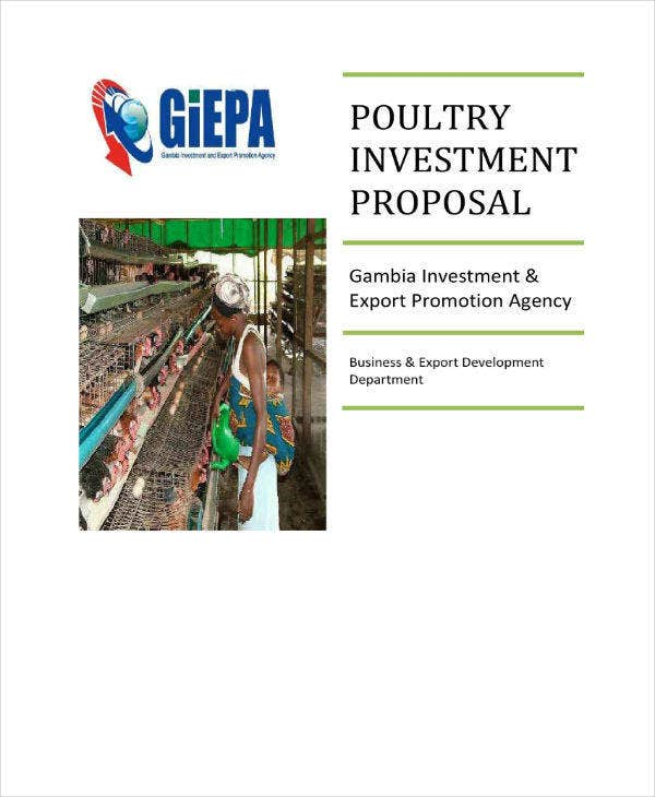 poultry investment proposal example