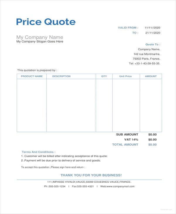 price quotation template1
