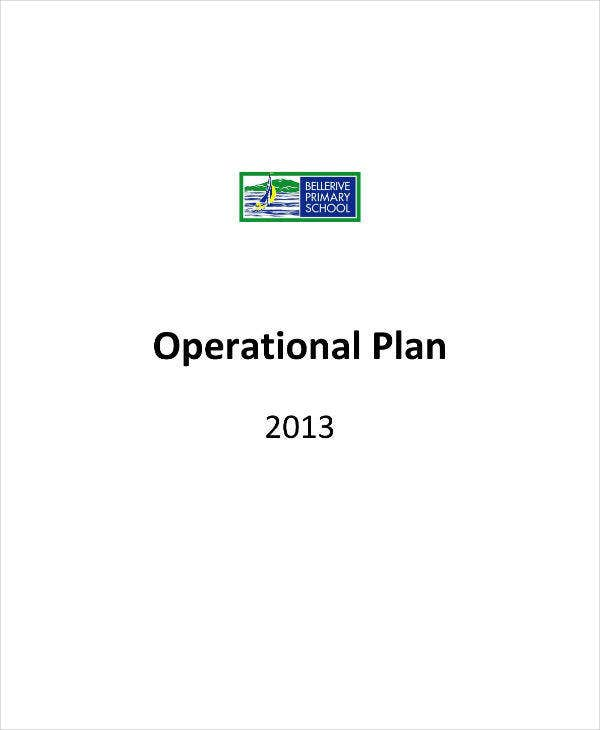 Primary School Operational Plan Example