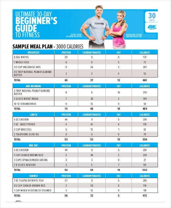 printable 30 day diet plan