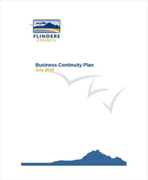 printable business continuity plan