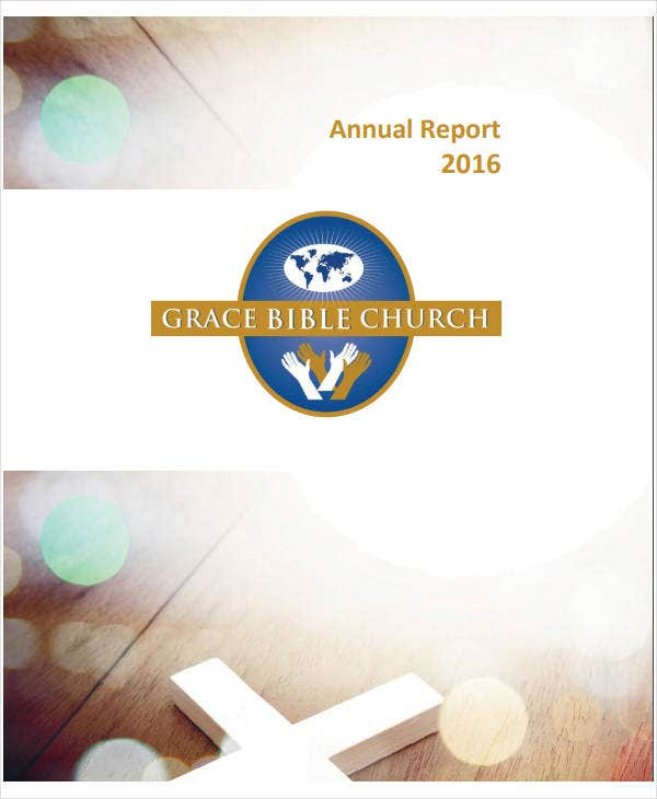 printable church annual report