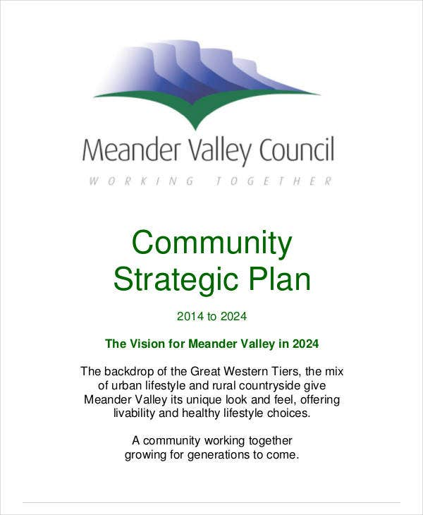 printable community strategic plan