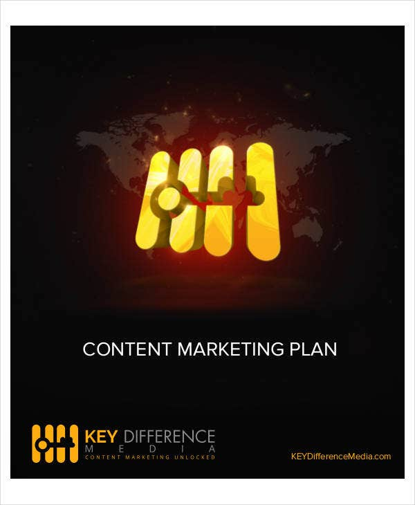printable content marketing plan