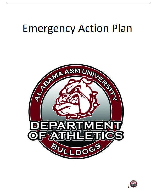 printable emergency action plan