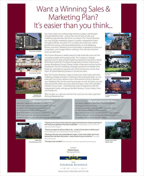 printable hotel marketing plan