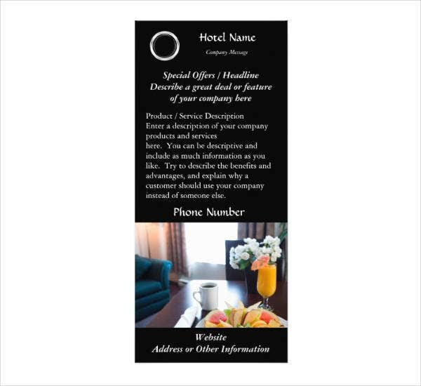 Printable Hotel Rack Card