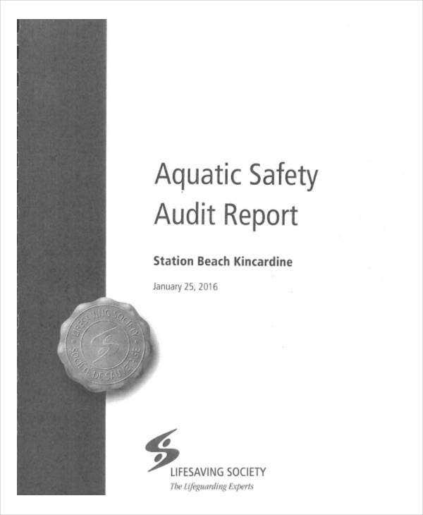 printable safety audit report template