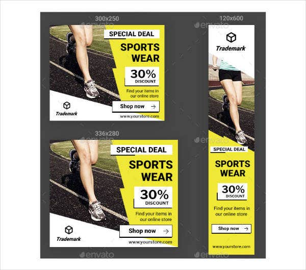 printable sports banner ads template