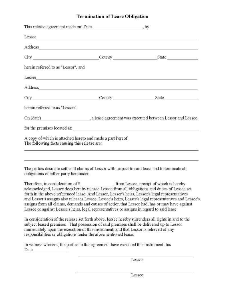 printable termination of lease obligation pdf page 001 788x1020