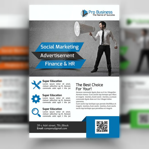 Pro Business Marketing Consultant Flyer Template