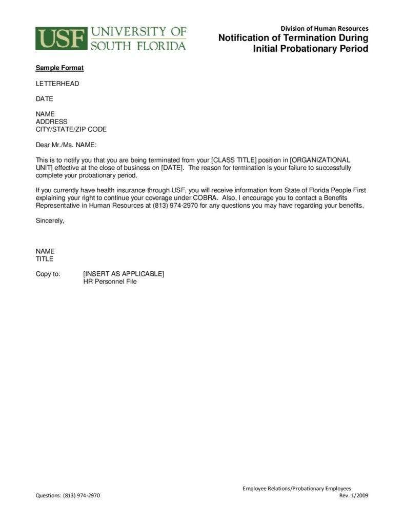 termination letter to employee termination letter templates 26 free samples examples 1798