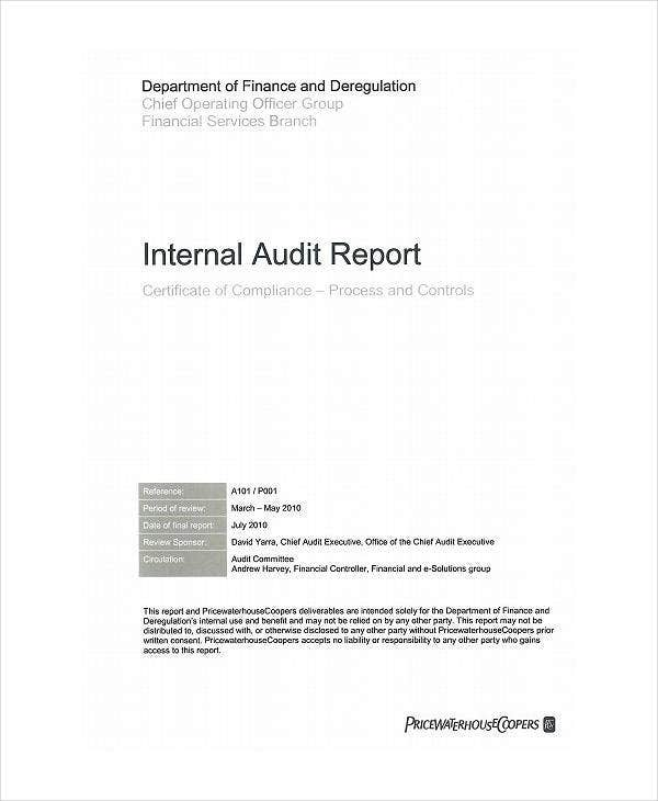 Process and Controls Internal Audit Report