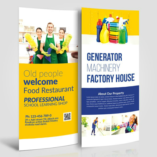 Professional Cleaning Service Rack Card Template