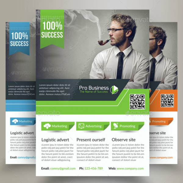 Professional Logistics Business Analyst Flyer Template
