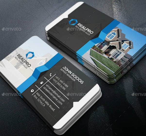 19 Real Estate Business Card Designs Templates Psd Ai Word