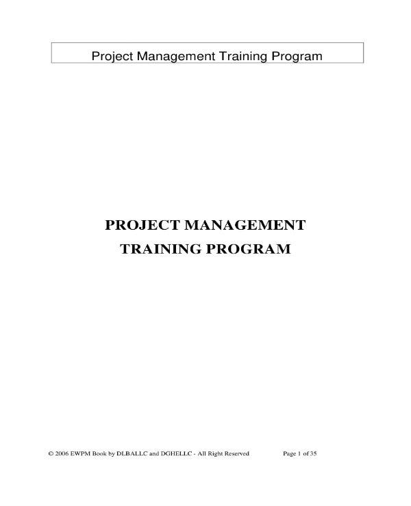 project management training plan 01