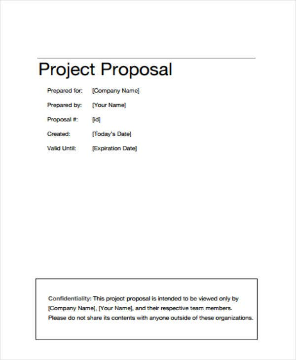 how to write a project proposal outline