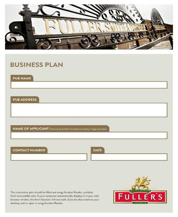 pub business plan 01