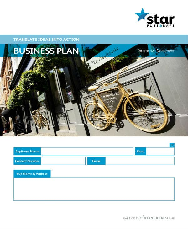 pubs bars business plan template 01