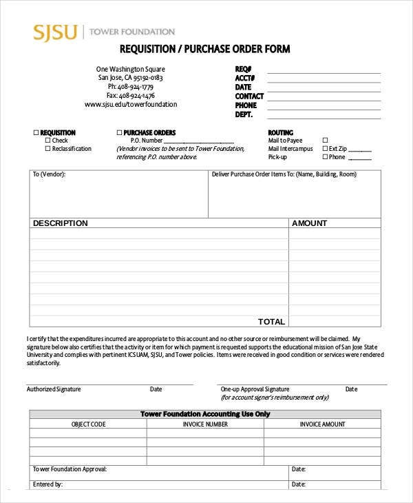 purchase order system template