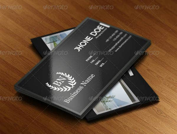 Real Estate Business Card Sample