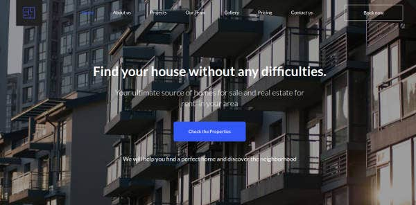 Real Estate CMS Website Template