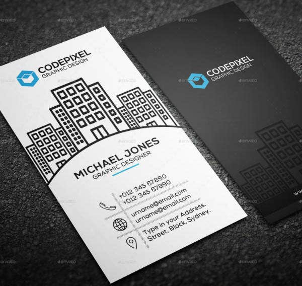Real Estate Graphic Design Business Card