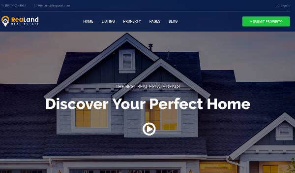 Real Estate HTML Website Template