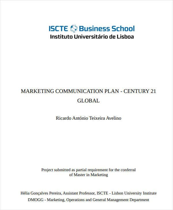 real estate marketing communication plan