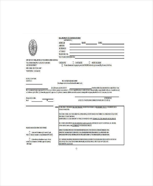 real property tax audit report form template